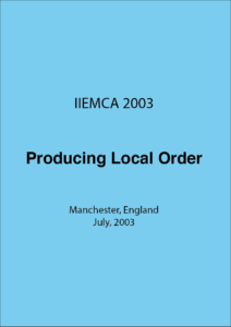 IIEMCA 2003 Producing Local Order